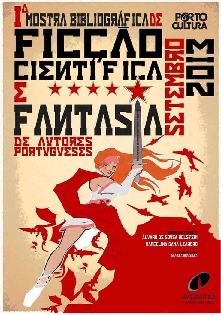 Folheto da Iª Mostra Bibliográfica de Ficção Científica e Fantasia de Autores Portugueses - Porto