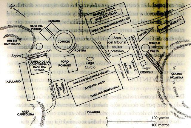 Plano De Los Organismos De Poder En El Centro De Roma Durante La éPoca De Cayo Julio CéSar