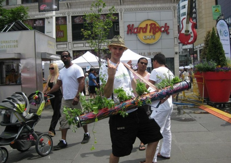 Live Green Toronto Festival. Nearly 40 000 visitors packed Yonge Street and Yonge-Dundas Square to shop the green street market and sample delicious local foods.