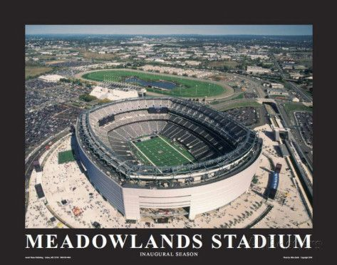 New York Giants at New Meadowlands Stadium Poster by Mike Smith at AllPosters.com
