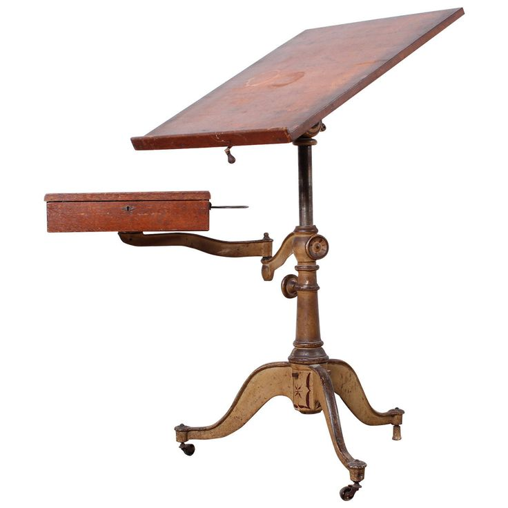 Victorian Cast Iron Artist Drafting Table |