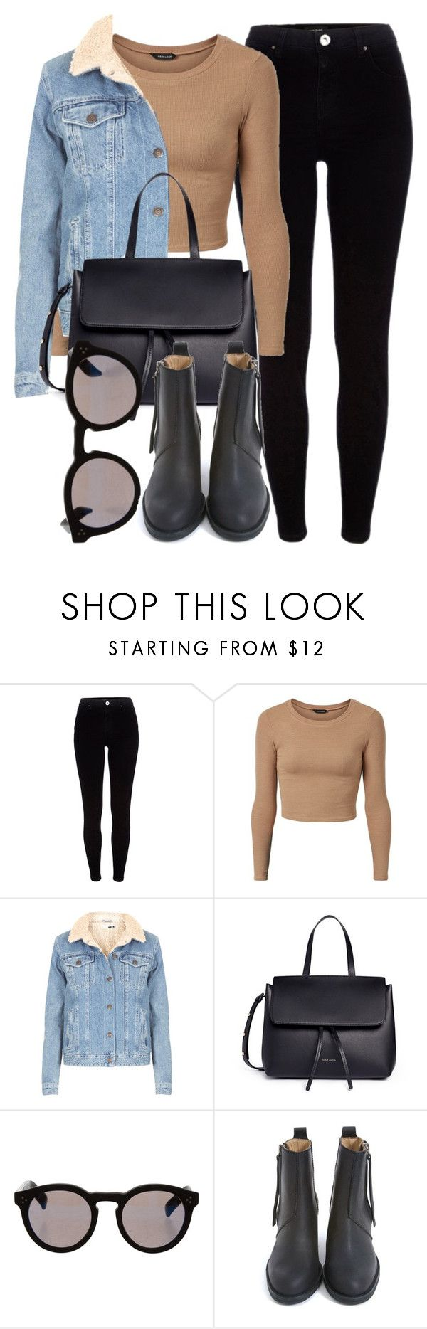 """""""Untitled #6330"""" by laurenmboot ❤ liked on Polyvore featuring River Island, Topshop, Mansur Gavriel, Illesteva and Acne Studios"""