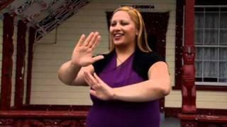 New Zealand National Anthem in NZSL, Maori & English, via YouTube.