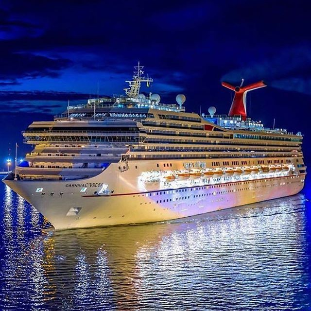 Carnival Valor at night  awesome photo was captured by @tomsroesser…