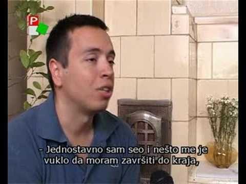 """A szabadkai Pannon televízió által 2007 júliusában készített riport """"A holdsarló fénye"""" szerzőjével."""