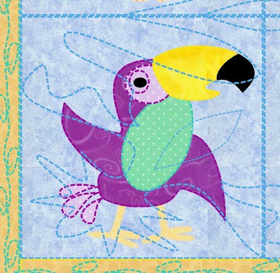 Baby Quilt Pattern Animals Safari Pets 12 Animals From The Etsy
