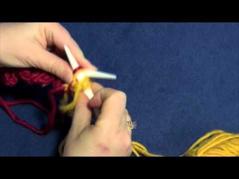 """Learn how to knit entrelac left edge triangles with Part Two of Planet Purl's six-part how-to video, taught by Beth Moriarty, author of """"Deep South Knitting."""""""
