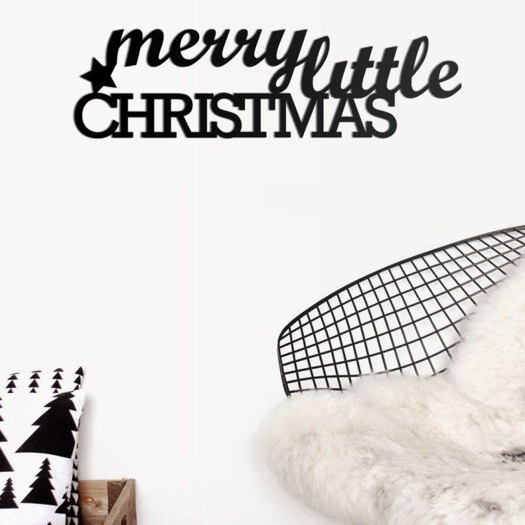 Świąteczny napis z gwiazdką MERRY LITTLE CHRISTMAS - NieMaJakwDomu