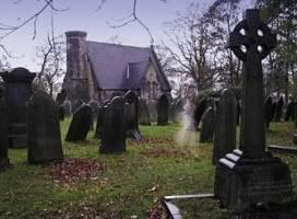 This is a ghost of a 9 yr old girl, who is buried in the graveyard, & keeps appearing to walk to the grave stone.