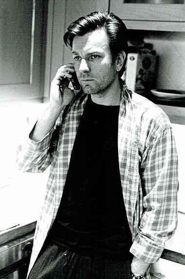 Obi-Wan talking on phone with Mindy..you can tell by his expression. :)