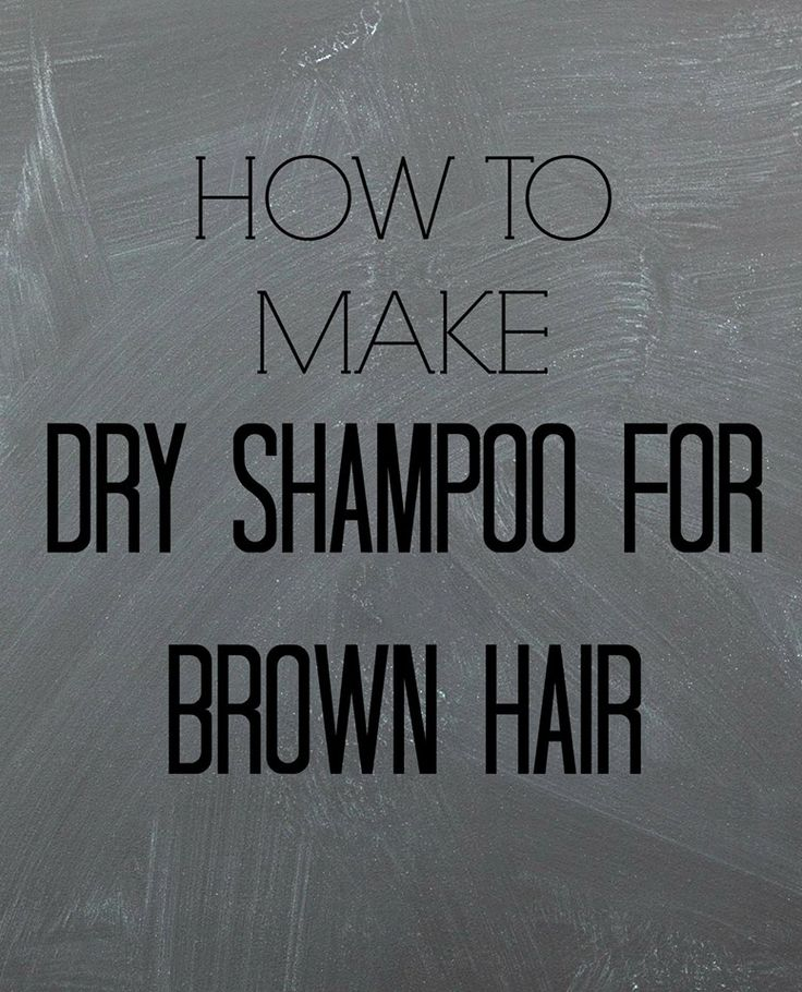 How To Make Dry Shampoo for Brown Hair