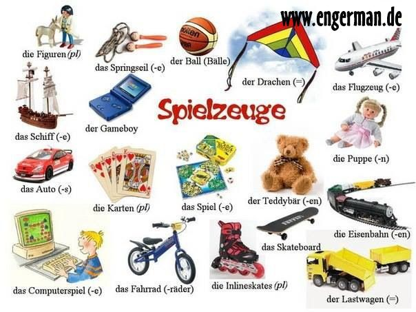 Toys vocab | German