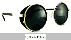 Lorgnette Round Field Sunglasses - 237 Black