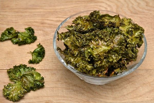 A healthy snack for the weekend. Crispy salt  balsamic kale chips.