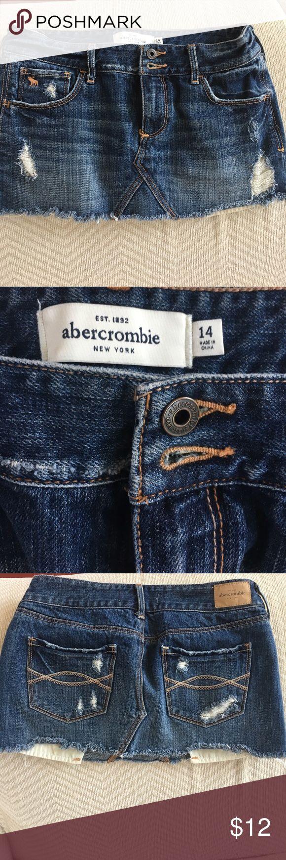 Abercrombie Jean Mini Skirt Size 14 girls. Distressed Jean mini skirt. abercrombie kids Bottoms Skirts