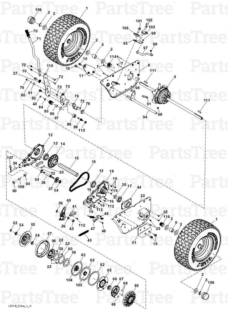 50 Poulan Pro Riding Lawn Mower Parts Diagram Iv6a di 2020