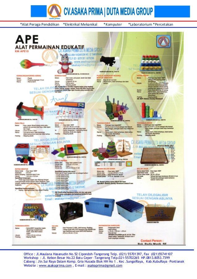 Daftar bkb kit & brosur ape bkb kit 2015