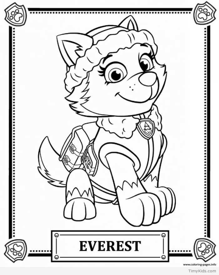 Paw Patrol Coloring Pages To Print Coloringpagestoprint Everest