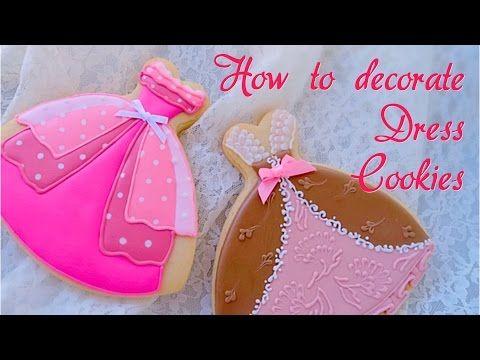 Cute baby girl onesie cookies. Baby shower cookies. - YouTube