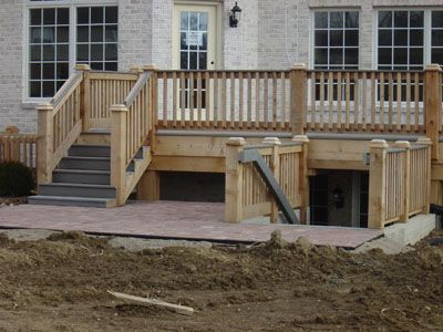 25 best ideas about basement entrance on pinterest for Above ground pool decks tulsa