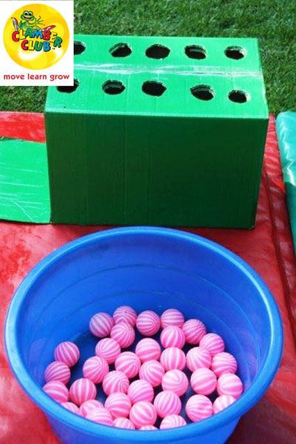 Posting games - Use old boxes around the house, and make posting games for your toddlers. Use different size boxes and colours to decorate. You can also use various different objects to post into the boxes. (Ping pong balls, Homemade box ideas, posting activities). www.clamberclub.com