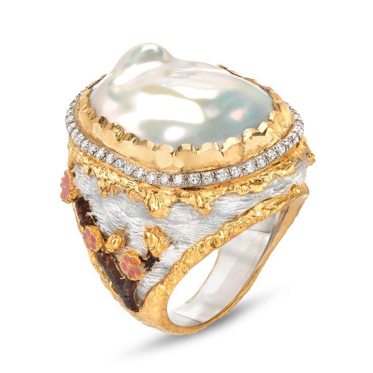Cherry Blossom Pearl Ring | Tayloe Piggott Jewelry