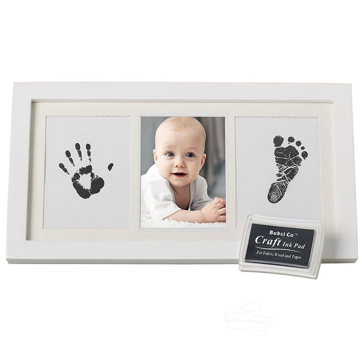 Bubzi Co Baby Handprint Kit and Footprint Photo Frame for Newborn Girls and Boys Unique Baby Shower Gifts Set for Registry Memorable Keepsake Box Decorations for Room Wall or Nursery Decor * See this great product.-It is an affiliate link to Amazon. #BabyKeepsakeProducts #babyboynursery