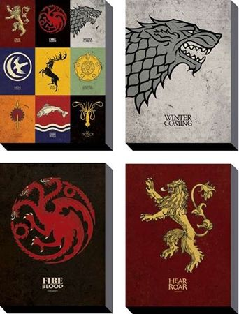 Game+of+Thrones+30+x+40cm+Canvas+Prints+Set+of+4