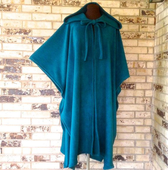 Irish Fleece Cape Plus Size by OutrageousRags on Etsy. I have one of these and it is perfect for throwing on over your jammies on a cold day or to walk the dog or get the mail or any outside adventure you want to be warm and cuddly in.