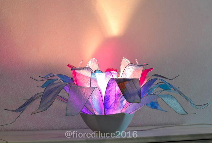 lampada fiore anemone di fiorediluce su Etsy
