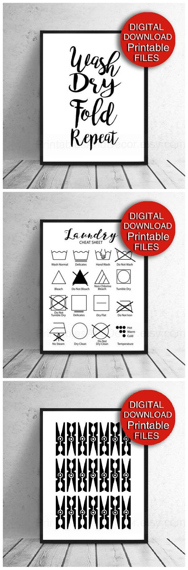 Best 25 laundry symbols ideas on pinterest godliness meaning digital set of prints for your laundry room modern and functional they include a buycottarizona