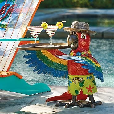 Margaritaville Petey The Parrot Party Table Florida