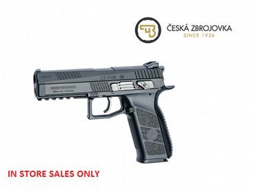 The eagerly awaited ASG CZ P-09 Duty .177 Rifled Barrel Pellet gun is finally here. Manufactured under license from CZ this air pistol is designed from the original specs resulting in a realistic look and handling. Its blowback function makes the metal slide move with every shot fired, creating strong recoil, adding to the shooting experience.
