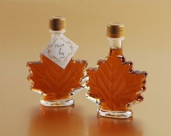 That would be a cool fall wedding favor! Real Maple Syrup Favors in Maple Leaf Bottles