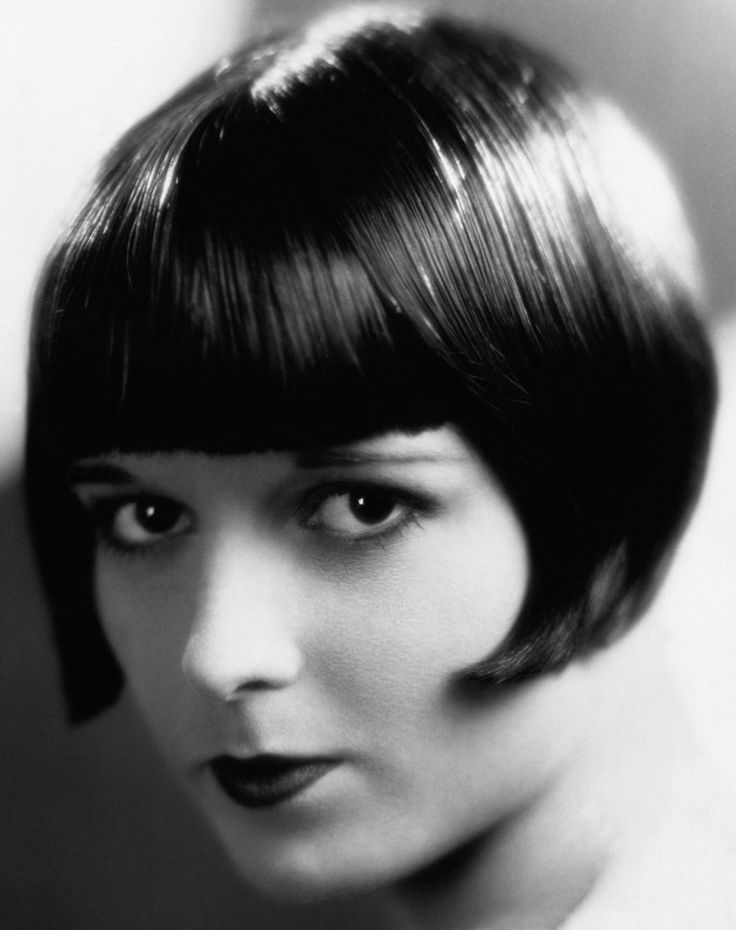 louise brooks the most iconic flapper of the 1920s The classic fringe is back on the scene, being worn by celebrities who have   iconic flapper louise brooks who launched the trend in the 1920s.