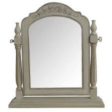 DRESSING TABLE MIRROR SHABBY CHIC PARIS RANGE FRENCH STYLE ANTIQUE CREAM NEW