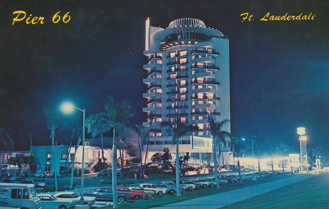 Pier 66 Motor Hotel and Restaurant - Ft. Lauderdale, Florida    Famous PIER 66 Motor Hotel and Restaurant in beautiful Ft. Lauderdale, Florida on the Intercoastal Waterway.    The card was mailed from Ft. Lauderdale, FL to Brecksville, Ohio on April 19, 1967: