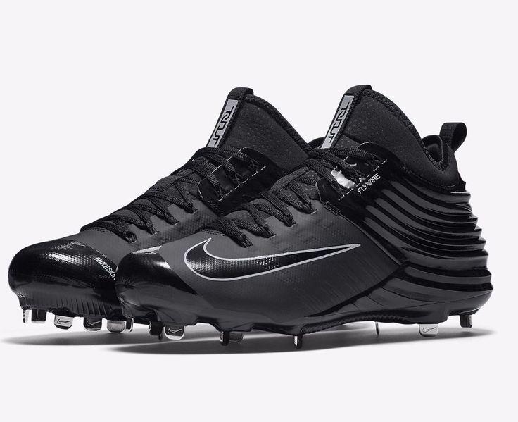 New Nike Lunar Trout Metal Baseball Cleats Black Grey Mike Angels #Nike $119.99