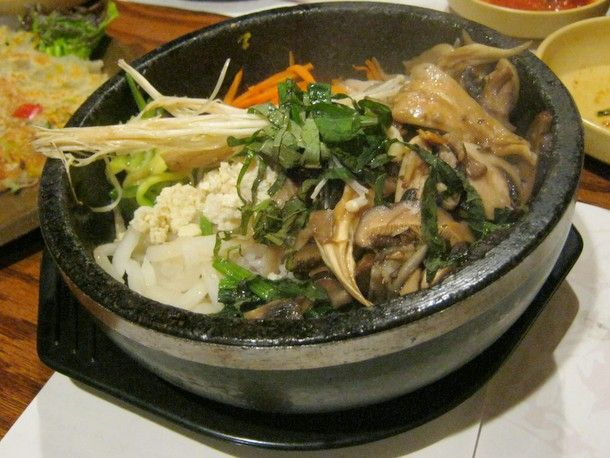 Rice Bowl with Mushrooms from Koreatown's Cho Dang Gol #nyc #restaurant
