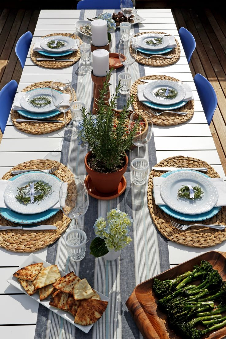 Serve Up Your Next Backyard BBQ Mediterranean Style. Place SettingsEvent  IdeasParty ...