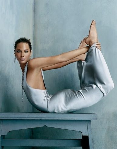 yoga - Christy Turlington Burns is an American model best known for representing Calvin Klein from 1987 to 2007. She has worked on dozens of modeling contracts with companies including Maybelline Cosmetics and Versace. Wikipedia
