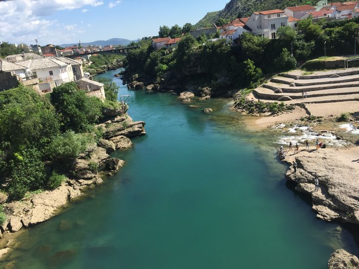 A view from the Mostar Bridge