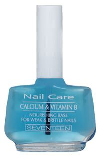 "Calcium & Vitamin B Complex Base | Seventeen Cosmetics A product for ""treatment & protection"" that ""nourishes"" your nails, making them more resilient to breakage #Seventeen #Cosmetics #nails #base"