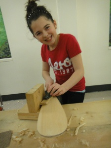 Paddle carving at the Canoe Museum. Programs for kids and adults. www.canoemuseum.ca