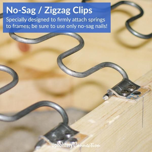Zigzag No Sag Springs And Clips Diy