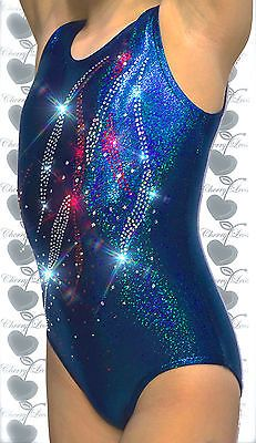 CherryLeos Gymnastics Leotard Turquoise Ocean with Free Scrunchie