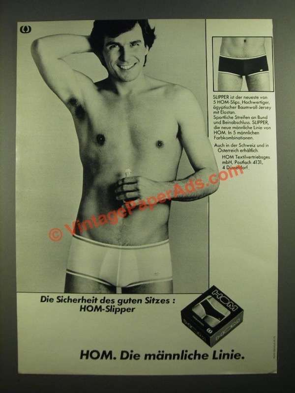 05eac8d594a 1979 HOM Slipper Underwear Ad - in German