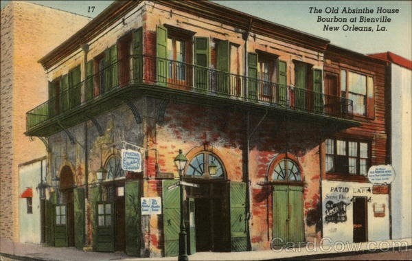 The Old Absinthe House. Since 1807. New Orleans, Louisiana