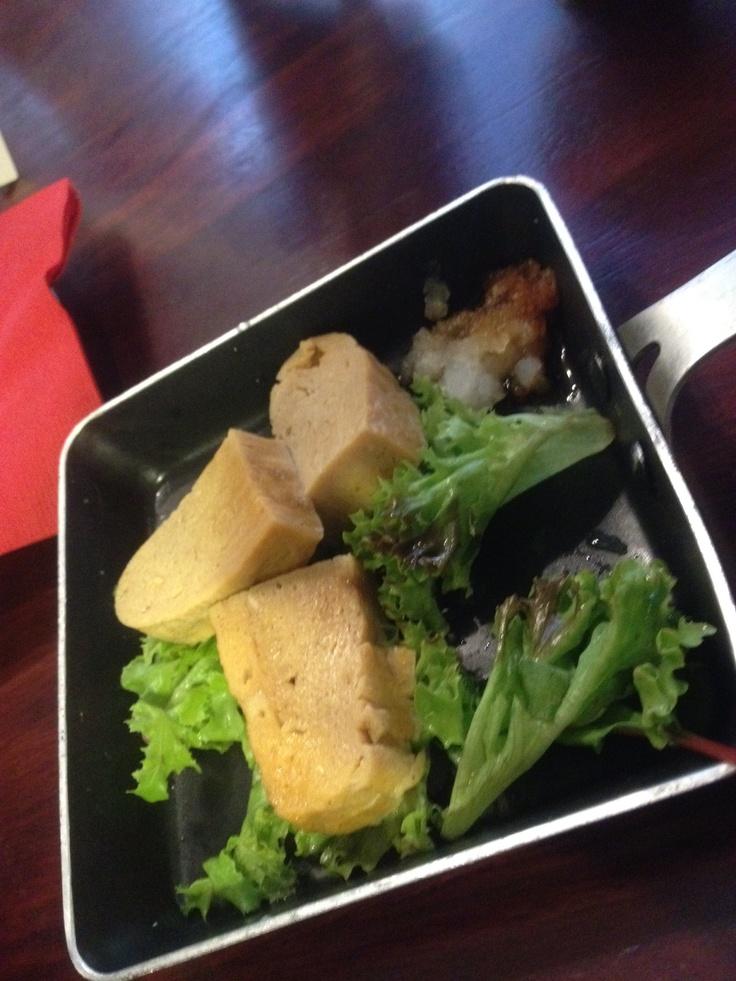 Tamagoyaki at Shimbashi soba and sake bar Warm, sweet and delicate