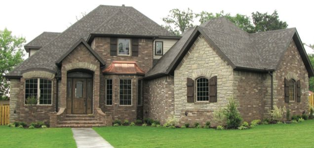 Brown brick and stone combinations nwahomes new french - Stone brick exterior combinations ...